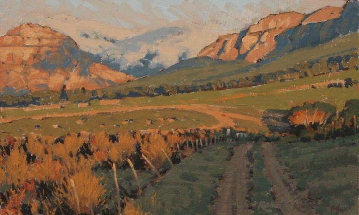 Hidden valley  Oil on canvas by Robert Koch