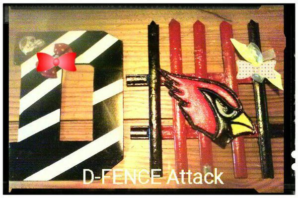 Arizona CARDINALS D-FENCE (DEFENSE) LETTERS in Glendale, AZ (sells for $15)