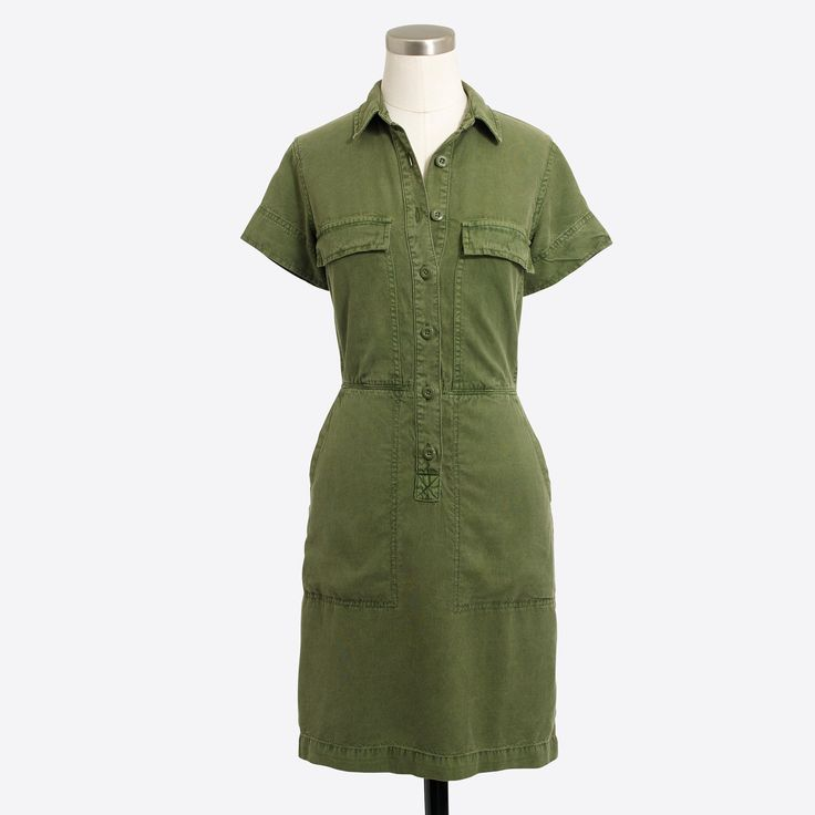 Drapey oxford dress