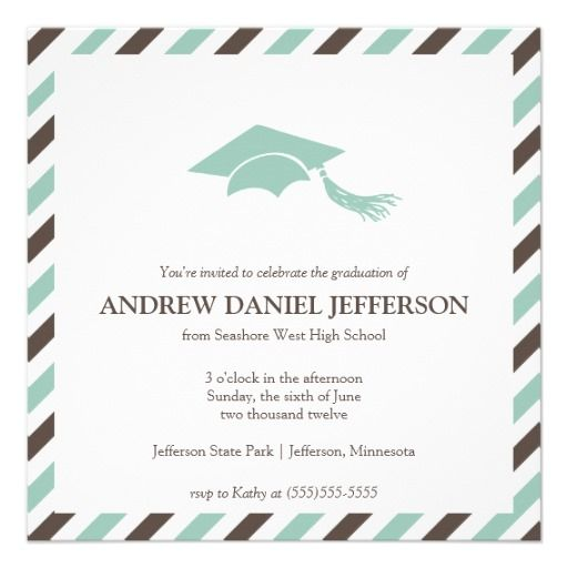 14 best Graduation Party Invitation images on Pinterest Grad - graduation announcement template