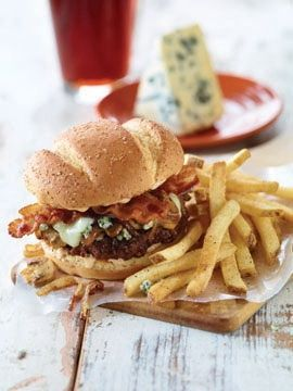 Applebee's new Bourbon Black & Bleu Burger - 7 oz. patty with blackened seasoning, bourbon caramelized onions & mushrooms, Jack cheese, bleu cheese crumbles and Applewood smoked bacon, served on a toasted bakery bun with smoky mayo. (Photo: Business Wire)