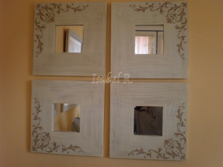 Las 25 mejores ideas sobre marcos de espejos pintados en for Espejo adhesivo ikea
