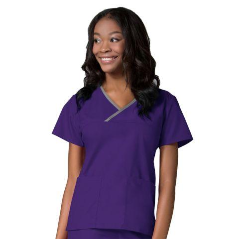 Purple dog grooming tops | purple dog grooming uniforms | purple dog grooming apparel