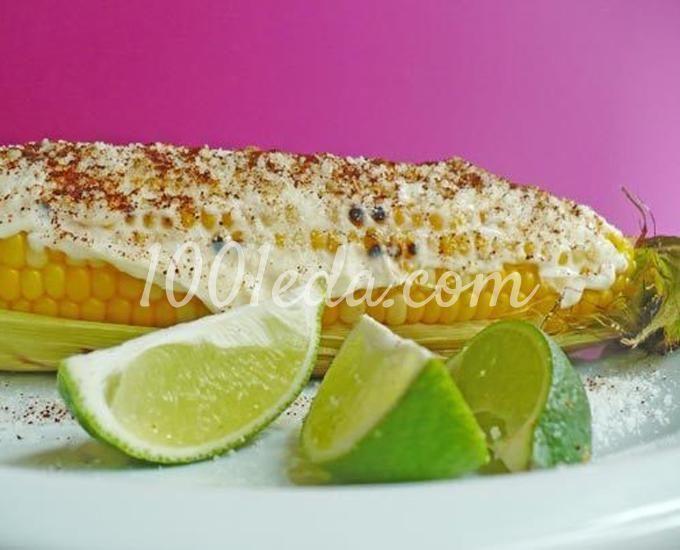 Кукуруза-гриль с сыром по-мексикански