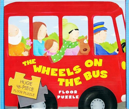 The Wheels On The Bus Floor Puzzle with Huge 48-Piece Floor Puzzle