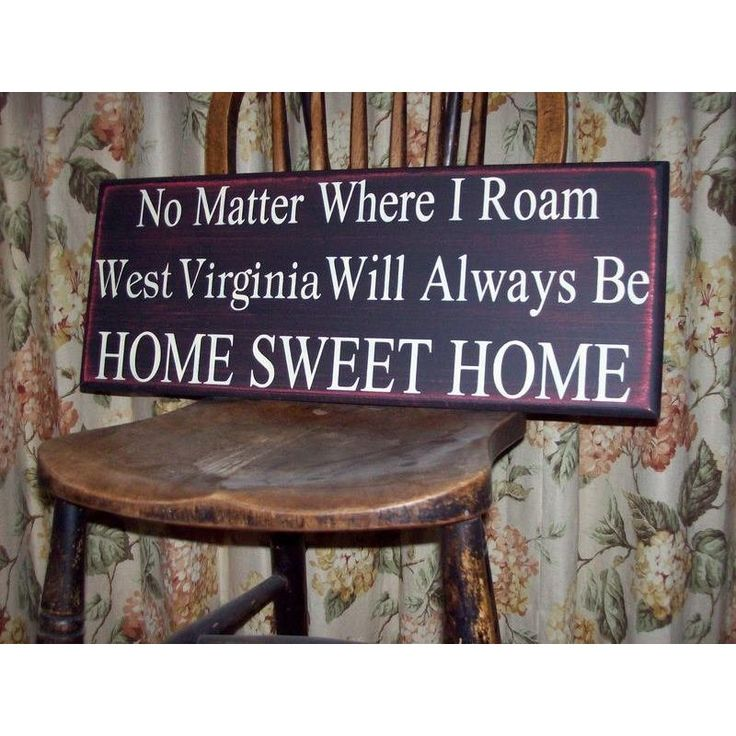 Home Sweet Home / WV Sign