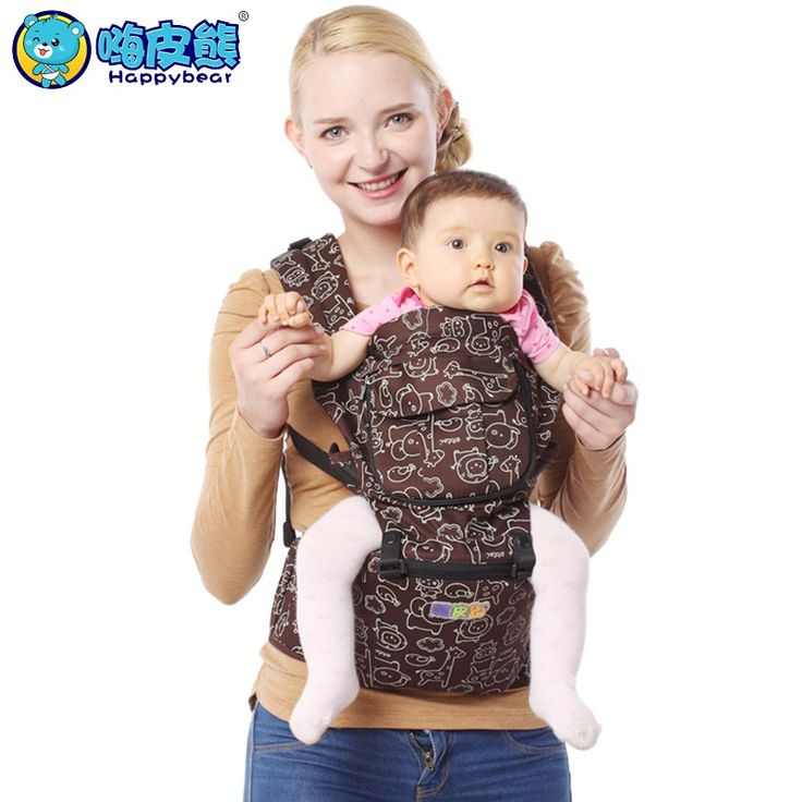 HappyBear New Fashion Baby Carrier Hipseat Baby Backpack Ergonomic Pure Cotton Carrier Multifunctional Baby Newborn Wrap Slings