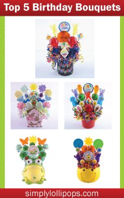 Everyone will enjoy these handmade pops. Choose from one of our favorite Happy Birthday Lollipop Bouquets, they're sure to put a smile on the recipient's face.