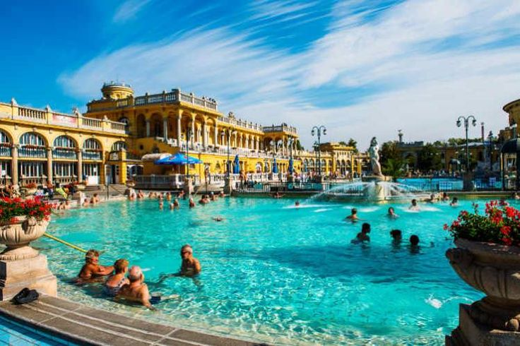 Budapest sits on a patchwork of almost 125 thermal springs, and 'taking the waters' has been a part of everyday life here since people walked in togas.