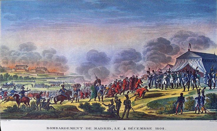 """""""Surrender of Madrid"""" colored litho by Antoine Charles Horace Vernet (called Carle Vernet)(1758 - 1836) and Jacques François Swebach (1769-1823)"""