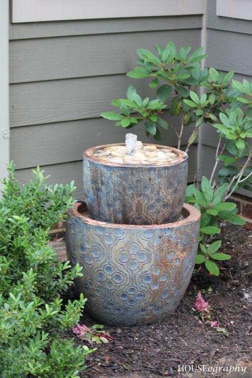 HOUSEography: Garden Fountain {Patio}