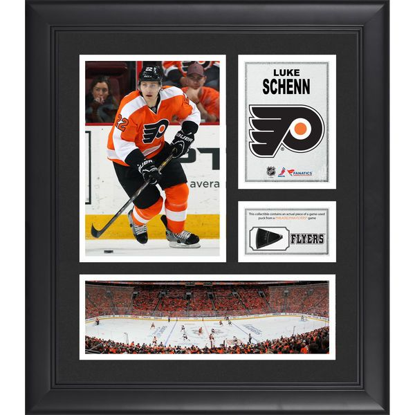 """Luke Schenn Philadelphia Flyers Fanatics Authentic Framed 15"""" x 17"""" Collage with Piece of Game-Used Puck - $79.99"""