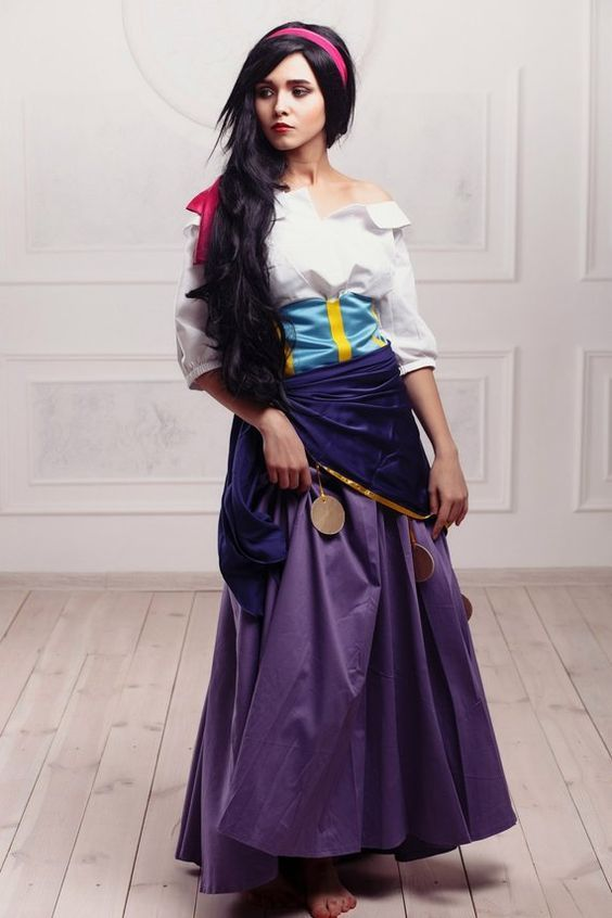 esmeralda red dress costume - Google Search | Disney ... |Diy Esmeralda Costume