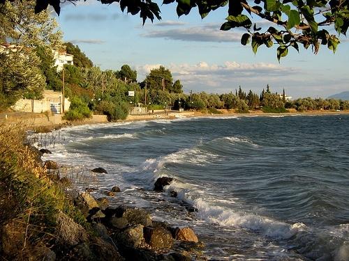 Autumn sea at Chronia North Evia, Greece