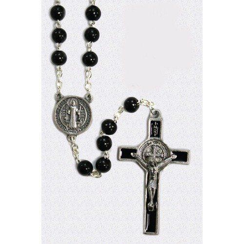 Saint Benedict Wood Bead Rosary San Francis Imports, Inc. $11.95
