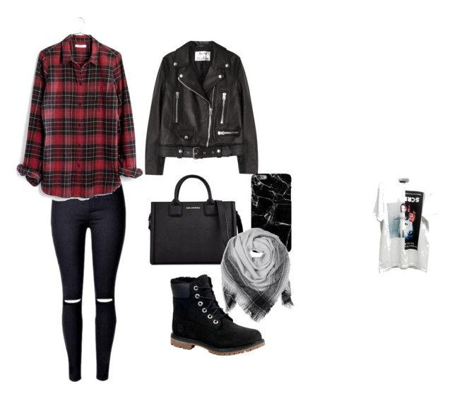 """""""Untitled #16"""" by raven-blackk on Polyvore featuring M.Y.O.B., Madewell, Acne Studios, Karl Lagerfeld, Timberland and BeckSöndergaard"""