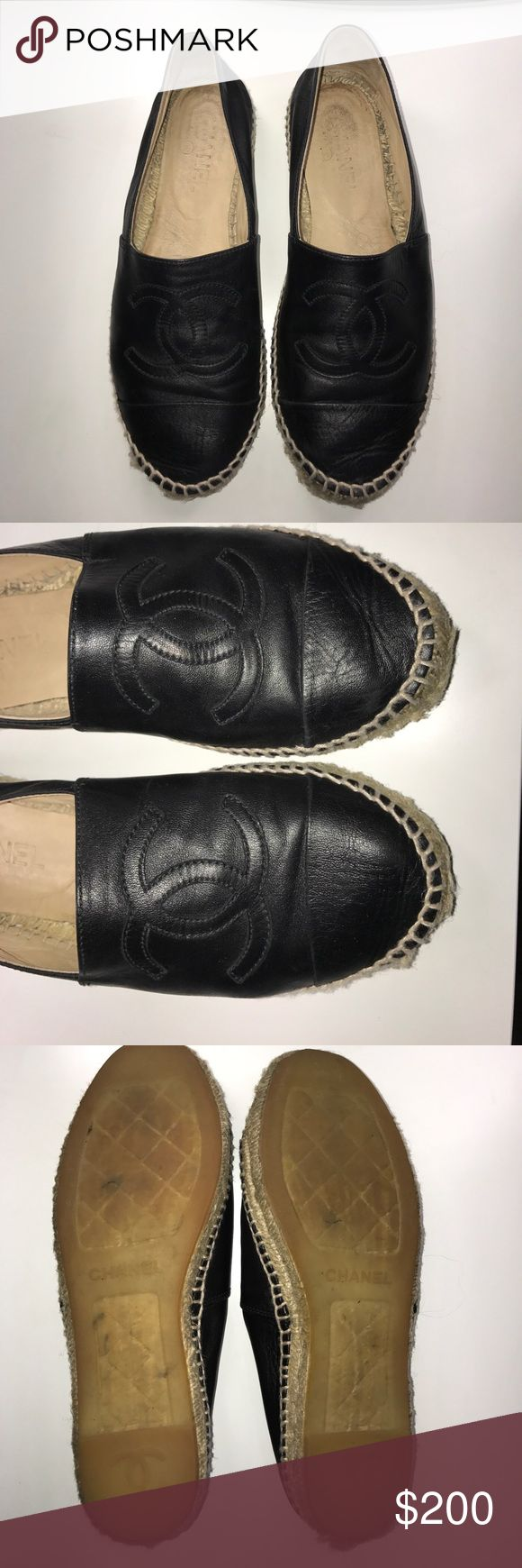 100% AUTH Chanel black espadrilles used no box 100% AUTH Chanel black espadrilles used comes with no box originally 595$ CHANEL Shoes Espadrilles