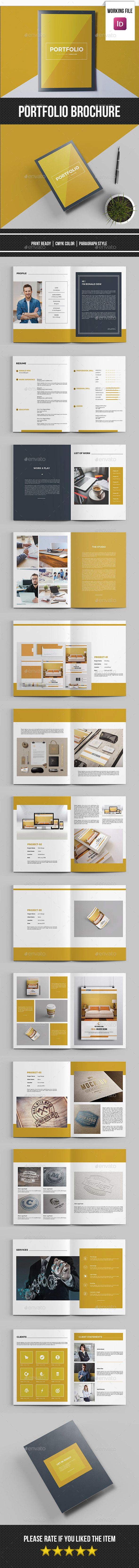 Minimal Portfolio Brochure Template InDesign INDD 23