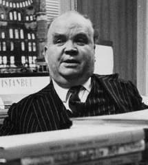 """CYRIL CONNOLLY (Sept 10, 1903 – Nov 26, 1974) English critic & writer. • [January 31, 1973] """"His flat blue eyes have no mercy in them and hardly any life, though his talk is still lively. He said that if we go to Africa this summer, he will tell us the best places to visit. I greatly enjoyed seeing him again and even felt an affection for him; I like him to be exactly as his is."""" (Christopher Isherwood Diaries: 1970-1983, Vol. 3, XXX)"""