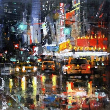 NYC Reflections by Mark Lague, Oil on Panel, Painting | Koyman Galleries