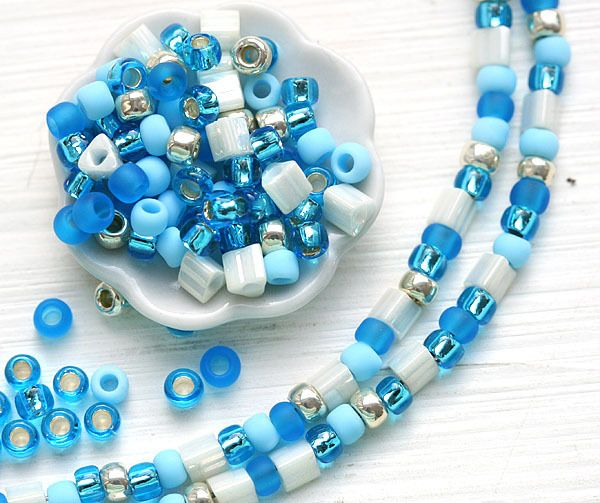 Blue Wave, MayaHoney Special Mix, Toho Seed Beads 10g - MayaHoneyBead