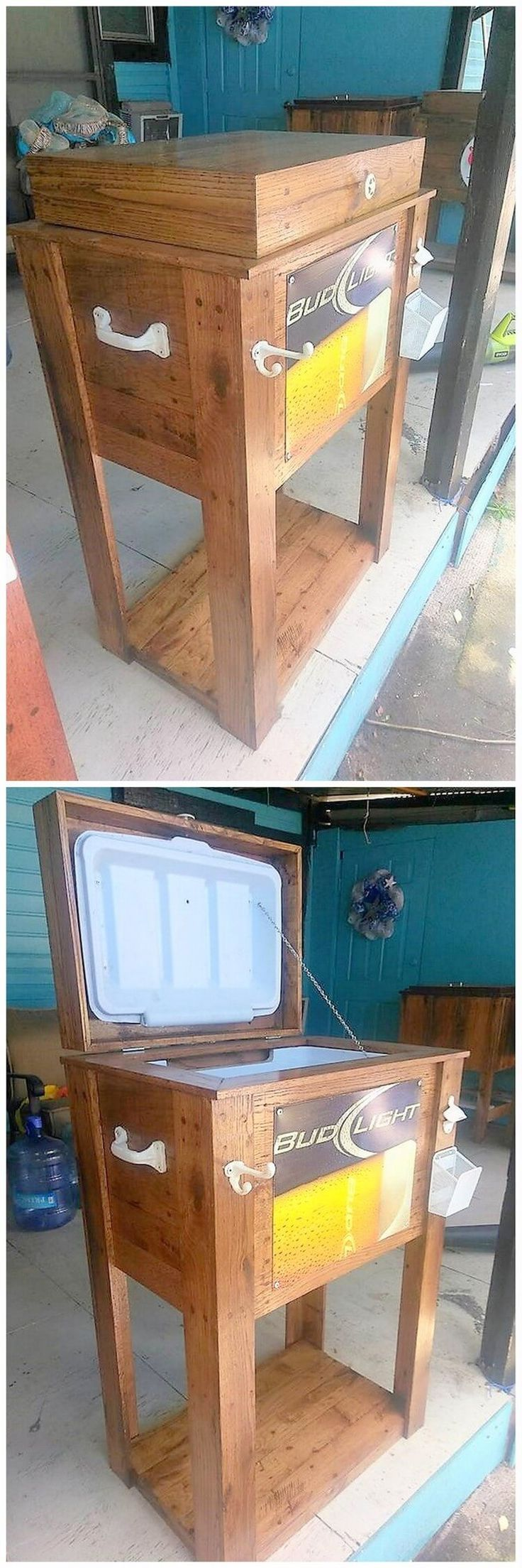 Wooden Pallet Cooler Idea