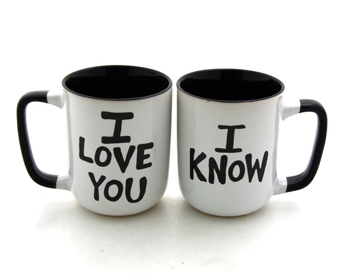 Star Wars (R) Han Solo and Leia I love you I know  Mug Set