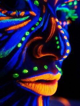 Fun glow in the dark activities. Diy glow in the dark face paint.