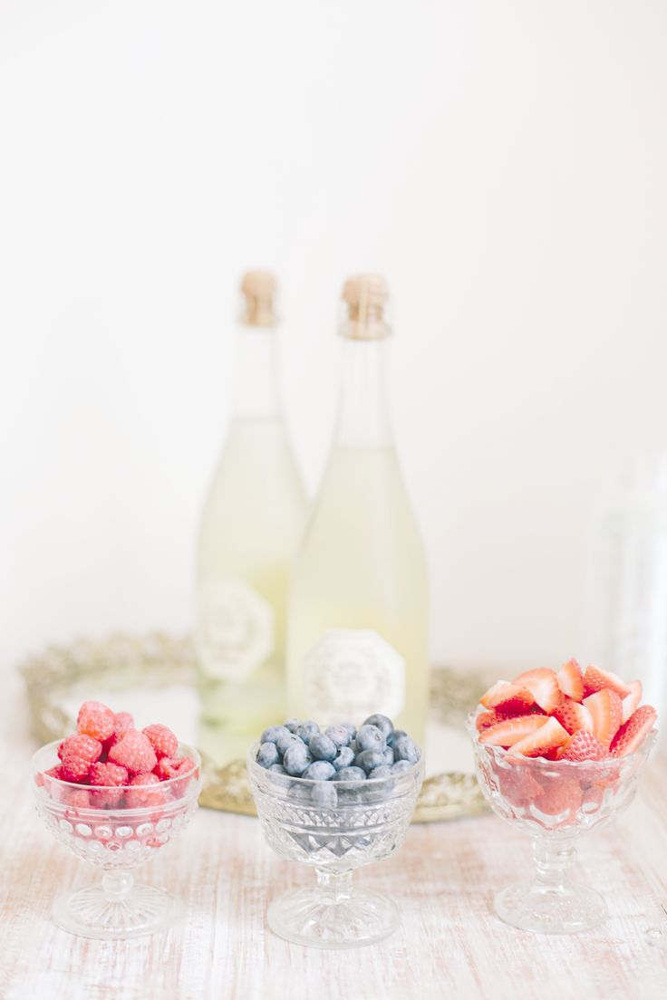 #champagne and berries Photography by asianbeesphotography.com Read more - http://www.stylemepretty.com/2013/08/23/watercolor-inspired-bridal-shower-from-annabella-charles-photography/