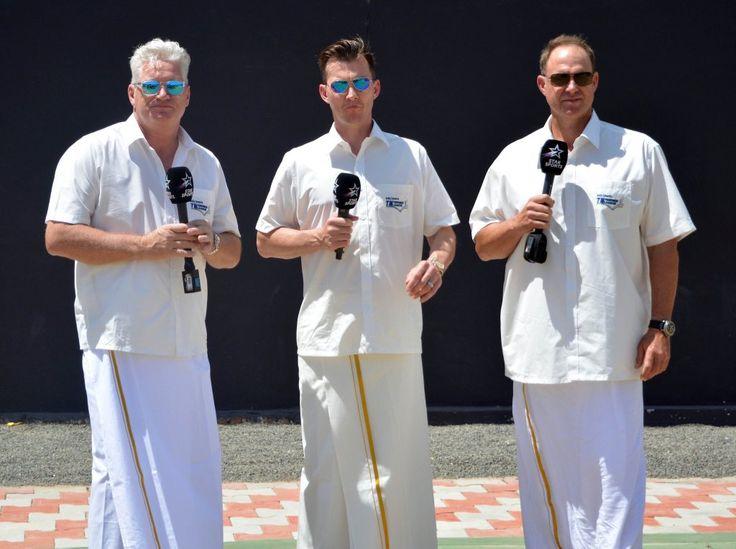 Dean Jones, Brett Lee, and Matthew Hayden in India 2016