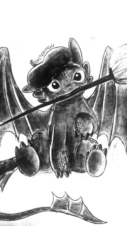 Toothless from How to Train a Dragon