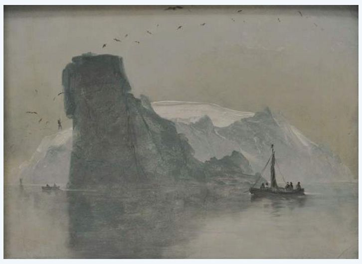 View of Fugloy, 'Bird Island', 1847