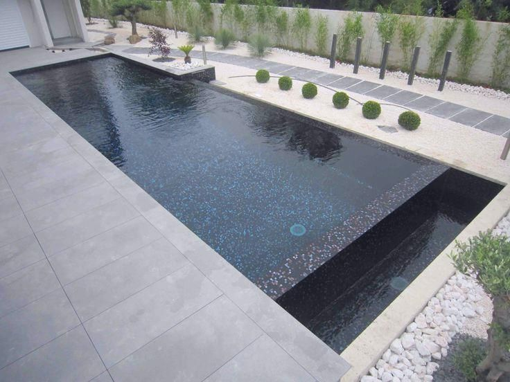 Carrelage Piscine Gris Recherche Google Swimming Pool House Mosaic Pool Small Backyard Pools