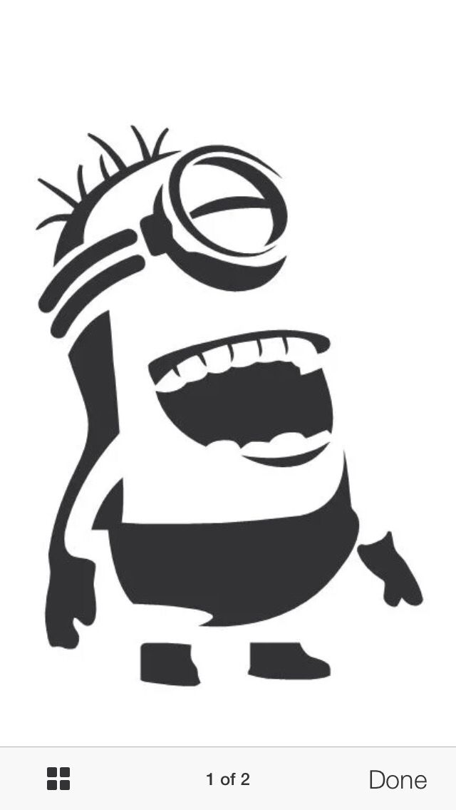 It's just a photo of Unforgettable Minion Pumpkin Stencil Printable