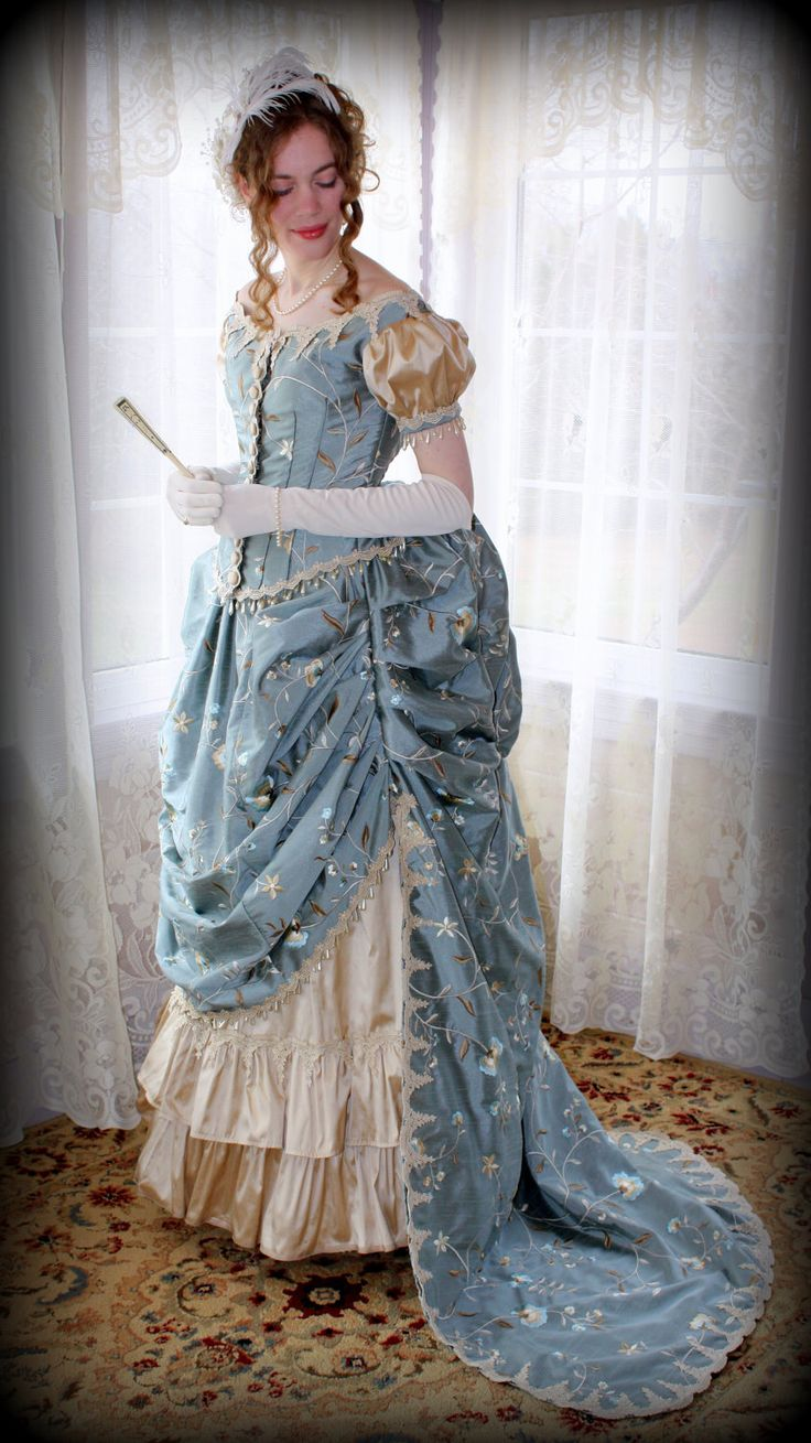 Victorian Bustle Gown / Dress - Ready to Wear. $650.00, via Etsy.