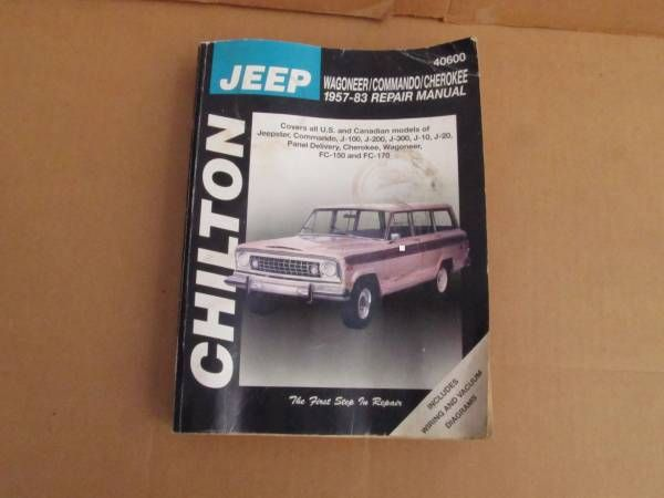 57 58 59 60 to 83 JEEPSTER JEEP COMANDO WAGONEER CHILTON MANUAL – auto parts – by owner
