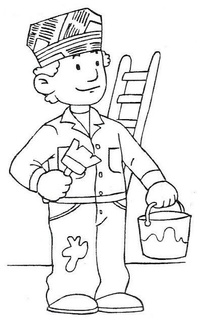 Resultado de imagen para imagenes infantiles de oficios y profesiones para colorear