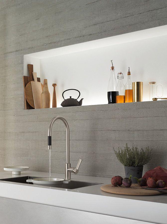 Design #kitchen tap TARA ULTRA by Dornbracht | #design Sieger Design @dornbracht