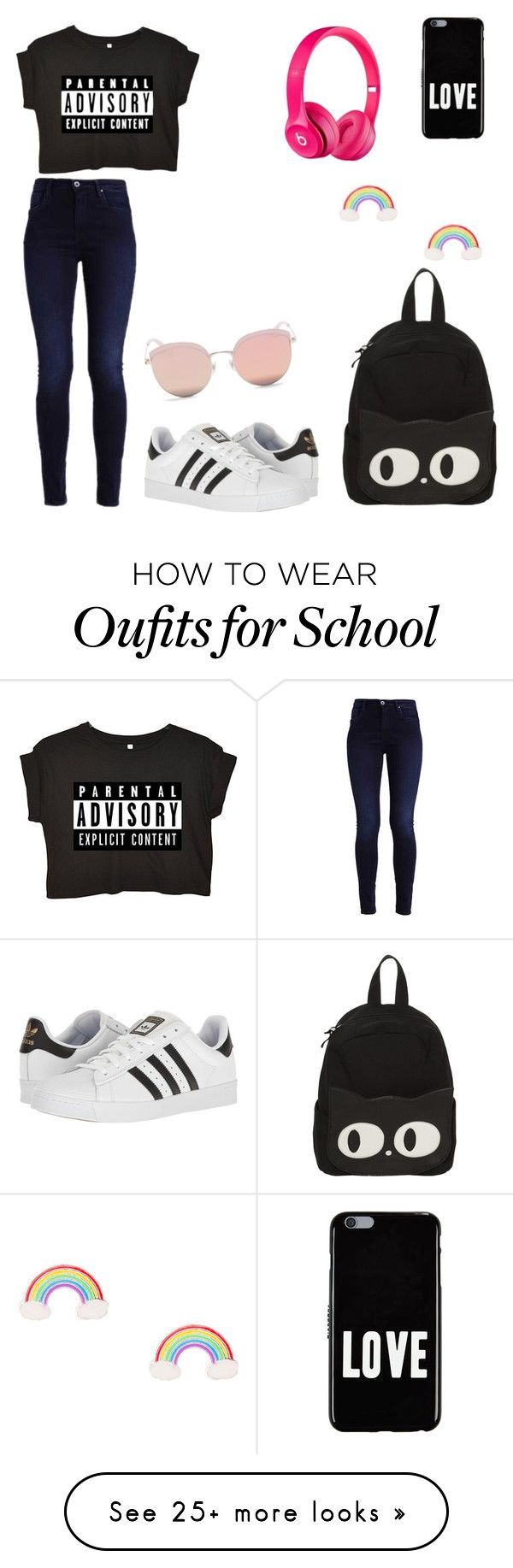 """My First Polyvore Outfit"" by nirvanahoranphb on Polyvore featuring adidas, Stephane + Christian and Givenchy"