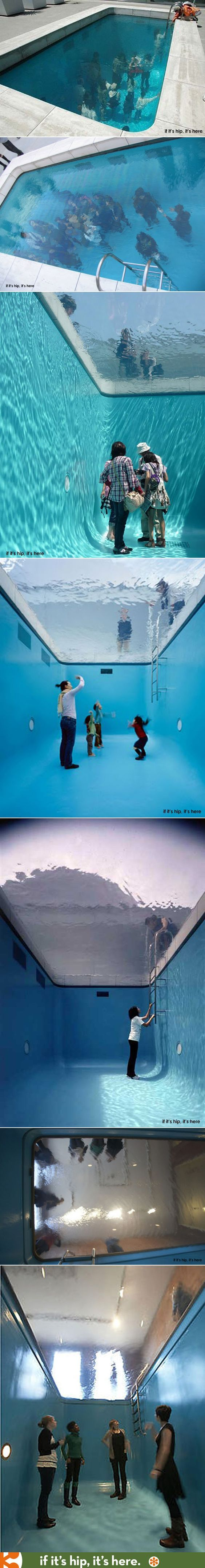 This Fake Pool is an art installation. Learn all about it at the link.: