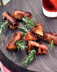 Prosciutto-Wrapped Persimmons Recipe from Food & Wine  http://www.foodandwine.com/recipes/prosciutto-wrapped-persimmons