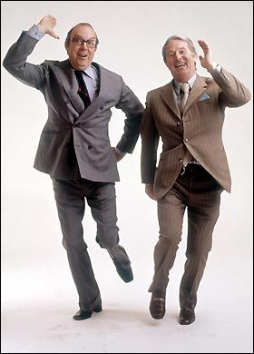 Morcambe and Wise - must be the greatest ever TV era double act.