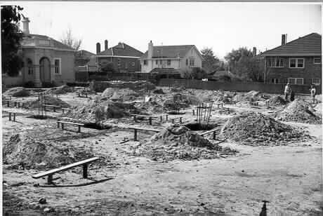 MP 5490. Construction of Malvern Municipal Library, 1957.