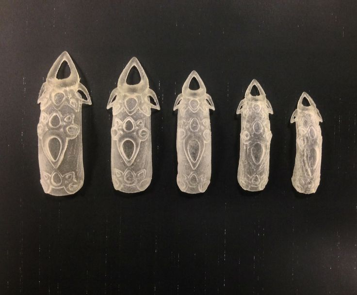 The Laser Girls The Glass Castle 3d printed nails