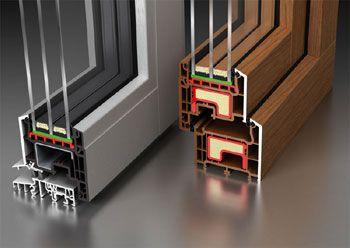 Efficienza profili serramenti  infissi  finestre in acciaio  pvc  alluminio  legno confronta i dati di trasmittanzatermica