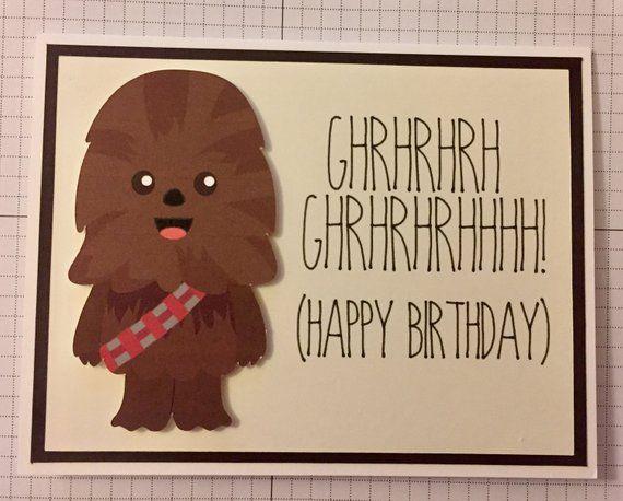 04e9195eebc49 Disney Star Wars Chewbacca birthday card