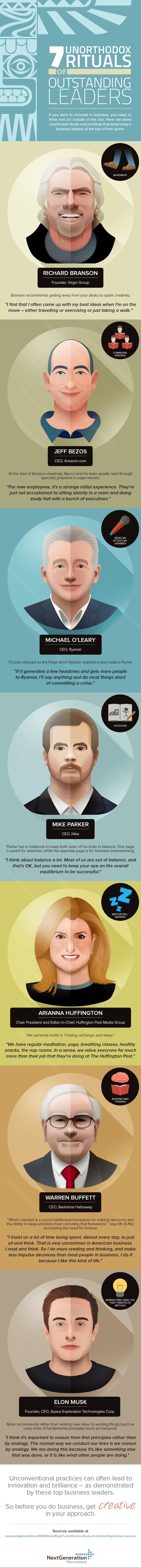 The Offbeat Habits of 7 Famous Leaders (Infographic)