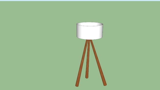 Large preview of 3D Model of West Elm Tripod Wood Floor Lamp