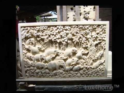 Reliefy - płaskorzeźby z kamienia naturalnego