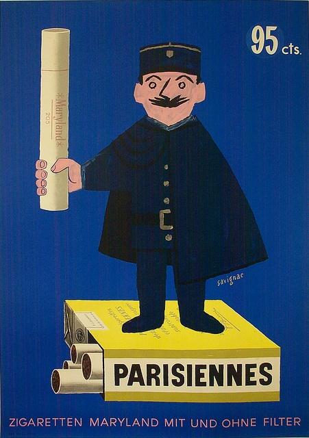 Parisiennes. Savignac. 1951. Vintage poster.